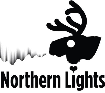 Λογότυπος βασισμένος στον τάρανδο και απεικόνιση το Βόρειο Σέλας (που παραπέμπει σε καπνό)
