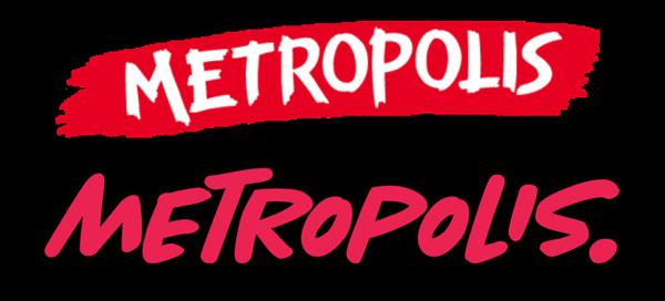 Το παλιό (πάνω) μαζί με το νέο (κάτω) σήμα των Metropolis