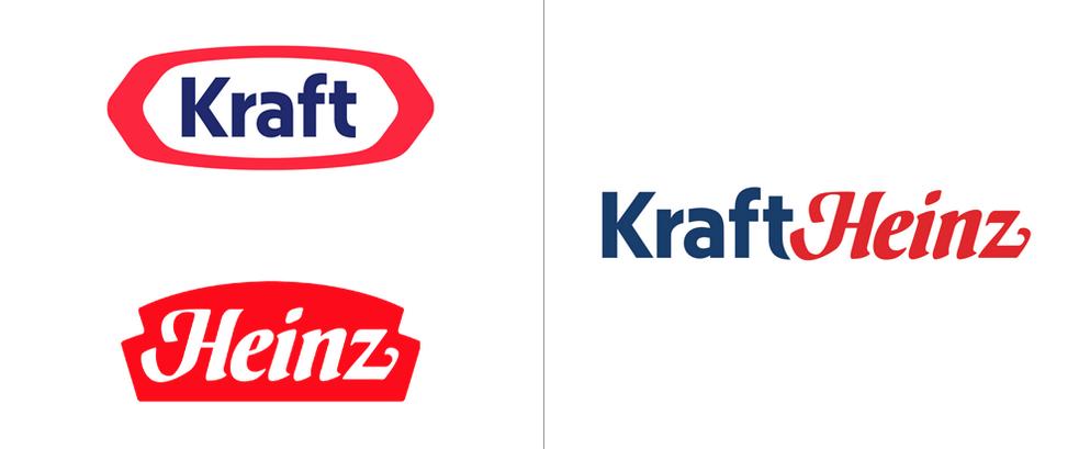 Οι ξεχωριστοί λογότυποι πριν τη συγχώνευση των δύο εταιρειών και το αποτέλεσμα μετά