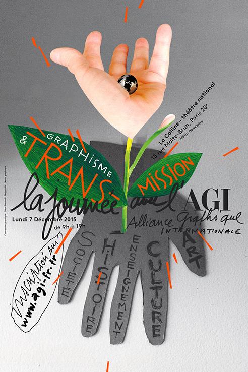 Τελευταίο έργο του μεγάλου σχεδιαστή, η αφίσα για τη συνάντηση του γαλλικού τμήματος της AGI, που έχει προγραμματιστεί για την πρώτη εβδομάδα του Δεκεμβρίου